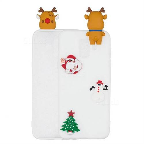 White Elk Christmas Xmax Soft 3D Silicone Case for Samsung Galaxy A6 (2018)