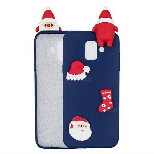 Navy Santa Claus Christmas Xmax Soft 3D Silicone Case for Samsung Galaxy A6 (2018)