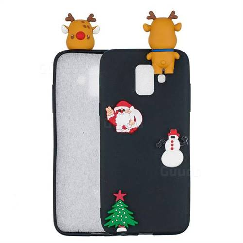 Black Elk Christmas Xmax Soft 3D Silicone Case for Samsung Galaxy A6 (2018)