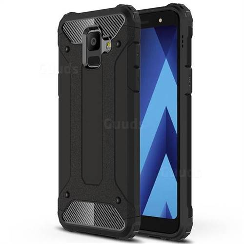 King Kong Armor Premium Shockproof Dual Layer Rugged Hard Cover for Samsung Galaxy A6 (2018) - Black Gold