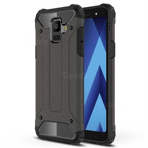 King Kong Armor Premium Shockproof Dual Layer Rugged Hard Cover for Samsung Galaxy A6 (2018) - Bronze