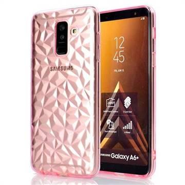 Diamond Pattern Shining Soft TPU Phone Back Cover for Samsung Galaxy A6 Plus (2018) - Pink