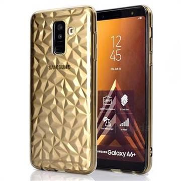 Diamond Pattern Shining Soft TPU Phone Back Cover for Samsung Galaxy A6 Plus (2018) - Gray