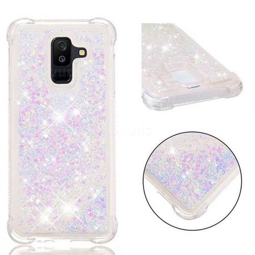 Dynamic Liquid Glitter Sand Quicksand Star TPU Case for Samsung Galaxy A6+ (2018) - Pink