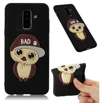 Bad Boy Owl Soft 3D Silicone Case for Samsung Galaxy A6 Plus (2018) - Black