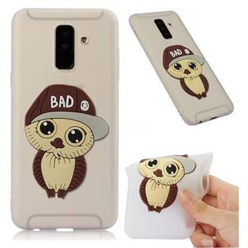 Bad Boy Owl Soft 3D Silicone Case for Samsung Galaxy A6 Plus (2018) - Translucent White