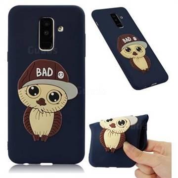 Bad Boy Owl Soft 3D Silicone Case for Samsung Galaxy A6 Plus (2018) - Navy