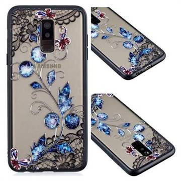 cheap for discount 0e6c1 de987 Butterfly Lace Diamond Flower Soft TPU Back Cover for Samsung Galaxy A6  Plus (2018)