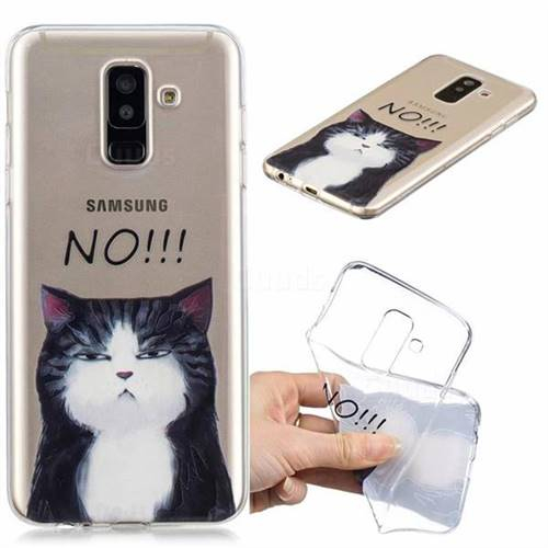 No Cat Clear Varnish Soft Phone Back Cover for Samsung Galaxy A6 Plus (2018)