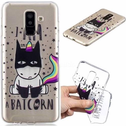 Batman Clear Varnish Soft Phone Back Cover for Samsung Galaxy A6 Plus (2018)