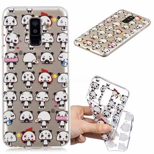 Mini Panda Clear Varnish Soft Phone Back Cover for Samsung Galaxy A6+ (2018)