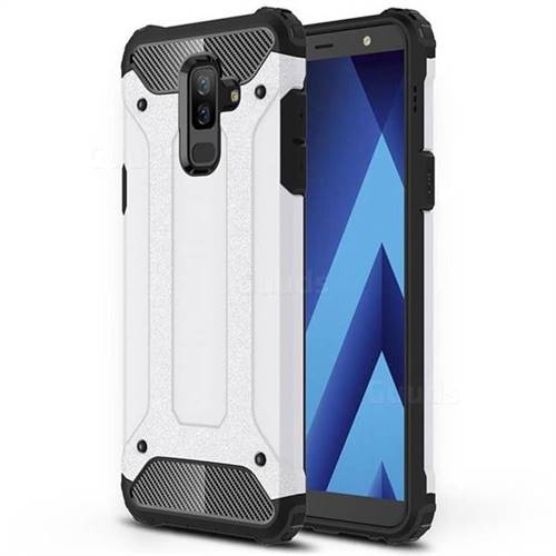 King Kong Armor Premium Shockproof Dual Layer Rugged Hard Cover for Samsung Galaxy A6 Plus (2018) - White