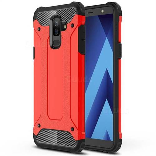 King Kong Armor Premium Shockproof Dual Layer Rugged Hard Cover for Samsung Galaxy A6 Plus (2018) - Big Red