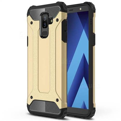 King Kong Armor Premium Shockproof Dual Layer Rugged Hard Cover for Samsung Galaxy A6 Plus (2018) - Champagne Gold
