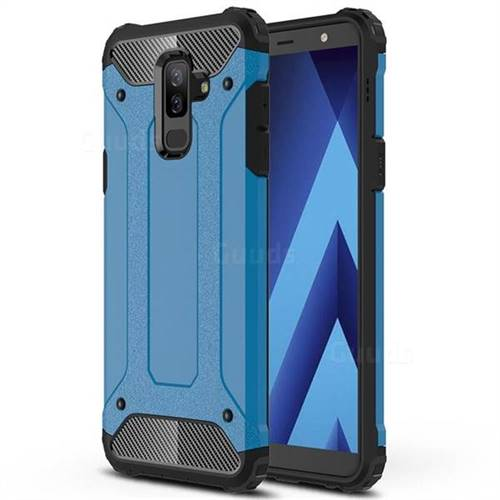 King Kong Armor Premium Shockproof Dual Layer Rugged Hard Cover for Samsung Galaxy A6 Plus (2018) - Sky Blue