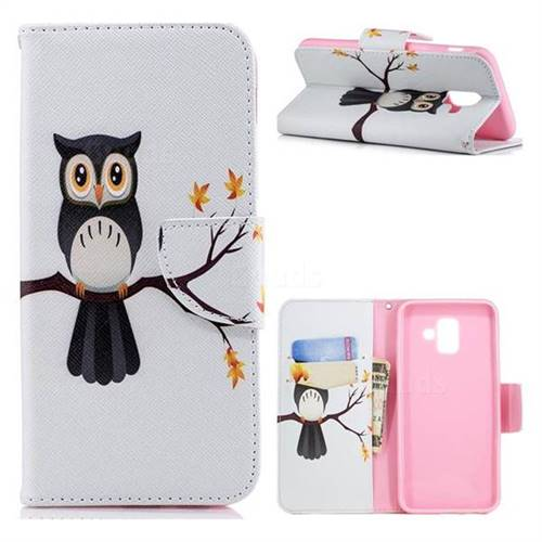 Owl on Tree Leather Wallet Case for Samsung Galaxy A6+ (2018)