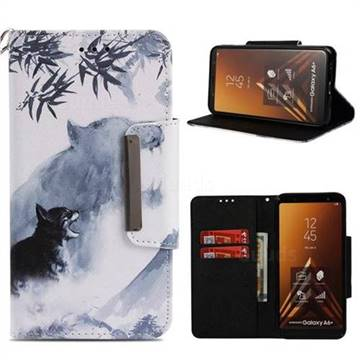 brand new 5fc43 1e8f9 Target Tiger Big Metal Buckle PU Leather Wallet Phone Case for Samsung  Galaxy A6+ (2018) - Leather case - Guuds