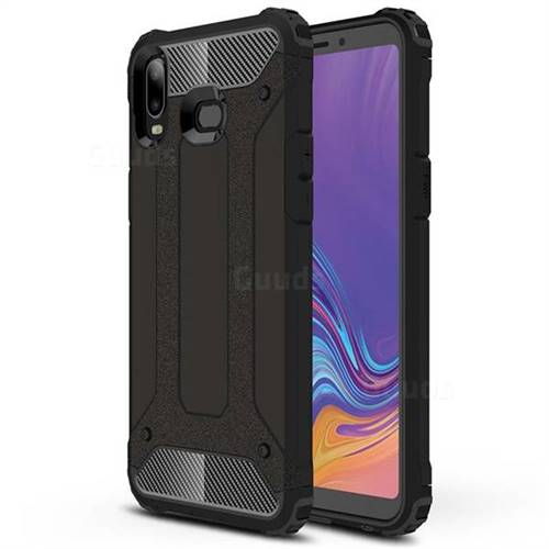 King Kong Armor Premium Shockproof Dual Layer Rugged Hard Cover for Samsung Galaxy A6s - Black Gold