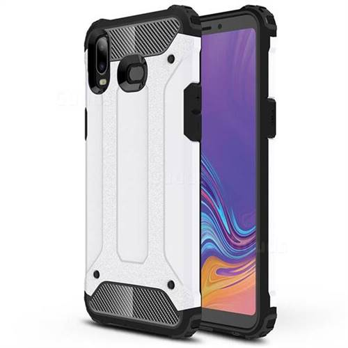 King Kong Armor Premium Shockproof Dual Layer Rugged Hard Cover for Samsung Galaxy A6s - White