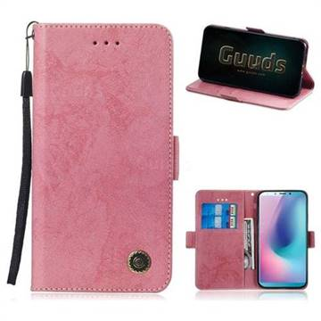 Retro Classic Leather Phone Wallet Case Cover For Samsung Galaxy A6s