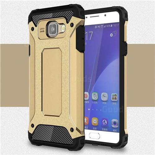 King Kong Armor Premium Shockproof Dual Layer Rugged Hard Cover for Samsung Galaxy A7 2016 A710 - Champagne Gold