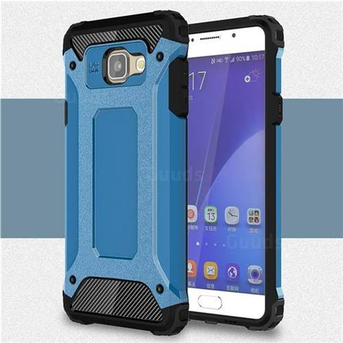 King Kong Armor Premium Shockproof Dual Layer Rugged Hard Cover for Samsung Galaxy A7 2016 A710 - Sky Blue