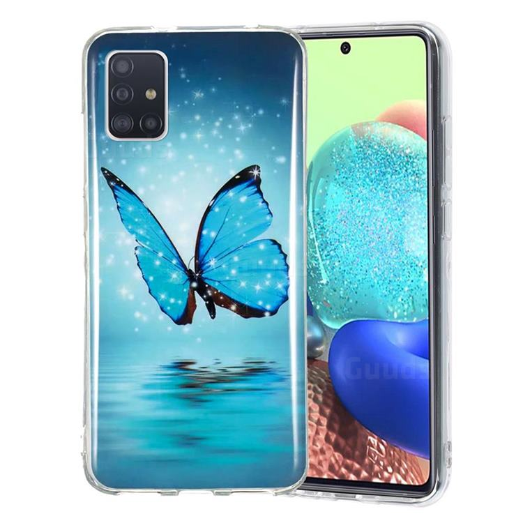 Butterfly Noctilucent Soft TPU Back Cover for Samsung Galaxy A71 5G