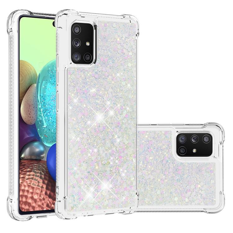 Dynamic Liquid Glitter Sand Quicksand Star TPU Case for Samsung Galaxy A71 5G - Pink