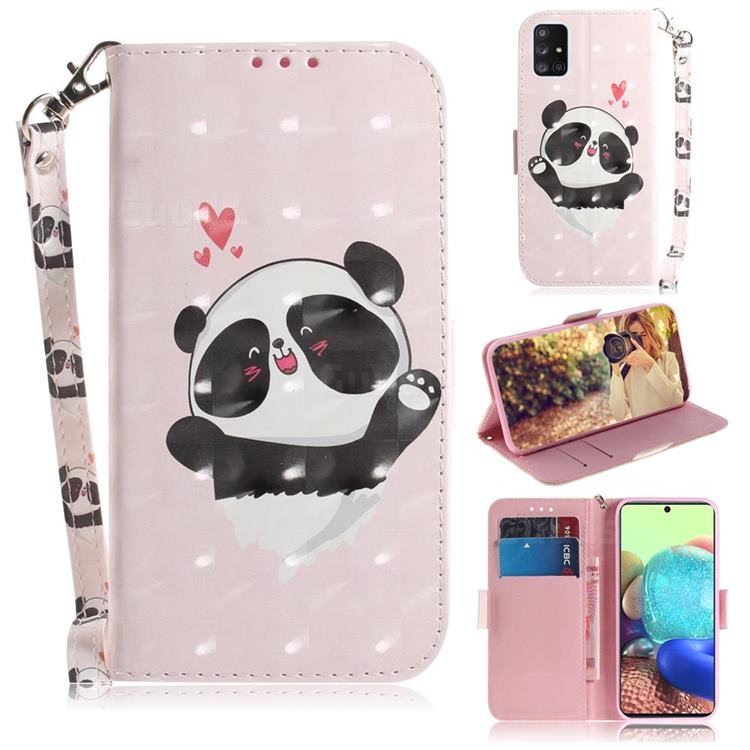 Heart Cat 3D Painted Leather Wallet Phone Case for Samsung Galaxy A71 5G