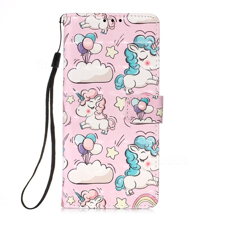 Angel Pony 3D Painted Leather Wallet Case for Samsung Galaxy A71 5G