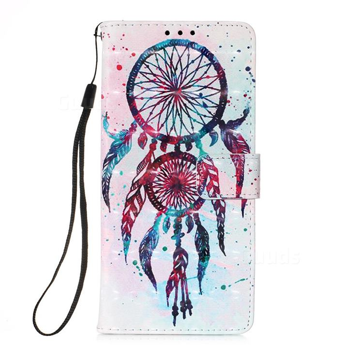 ColorDrops Wind Chimes 3D Painted Leather Wallet Case for Samsung Galaxy A71 5G