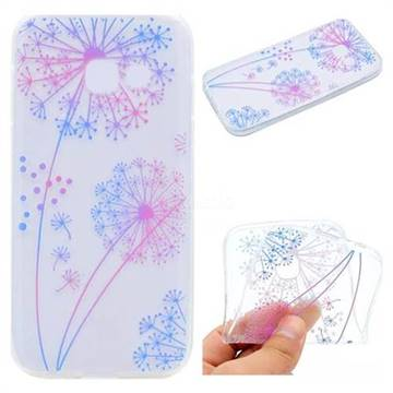 Rainbow Dandelion Super Clear Soft TPU Back Cover for Samsung Galaxy A7 2017 A720