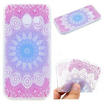 Colored Mandala Super Clear Soft TPU Back Cover for Samsung Galaxy A7 2017 A720