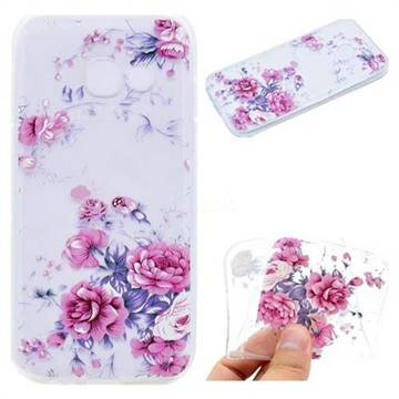 Peony Super Clear Soft TPU Back Cover for Samsung Galaxy A7 2017 A720