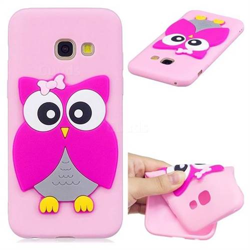 Pink Owl Soft 3D Silicone Case for Samsung Galaxy A7 2017 A720