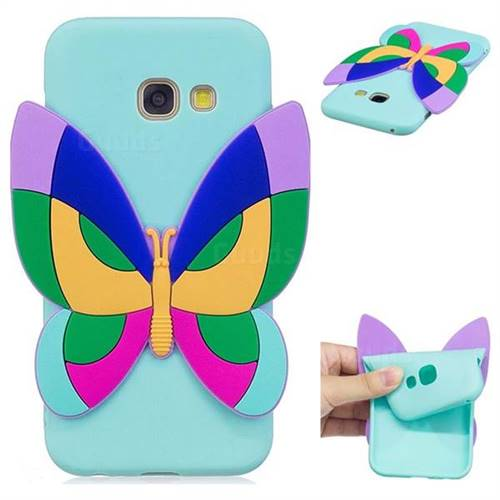 Rainbow Butterfly Soft 3D Silicone Case for Samsung Galaxy A7 2017 A720