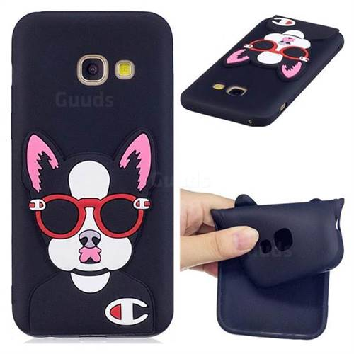Glasses Gog Soft 3D Silicone Case for Samsung Galaxy A7 2017 A720