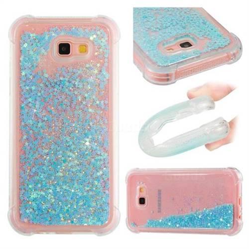 Dynamic Liquid Glitter Sand Quicksand TPU Case for Samsung Galaxy A7 2017 A720 - Silver Blue Star