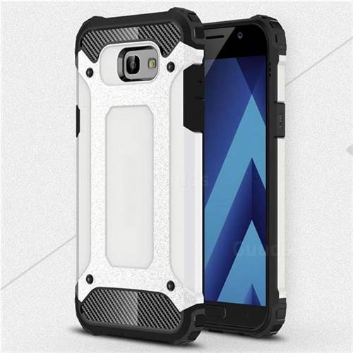 King Kong Armor Premium Shockproof Dual Layer Rugged Hard Cover for Samsung Galaxy A7 2017 A720 - White