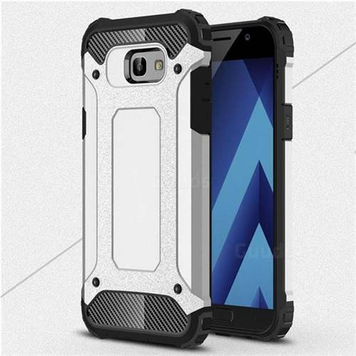 King Kong Armor Premium Shockproof Dual Layer Rugged Hard Cover for Samsung Galaxy A7 2017 A720 - Technology Silver