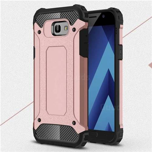 King Kong Armor Premium Shockproof Dual Layer Rugged Hard Cover for Samsung Galaxy A7 2017 A720 - Rose Gold