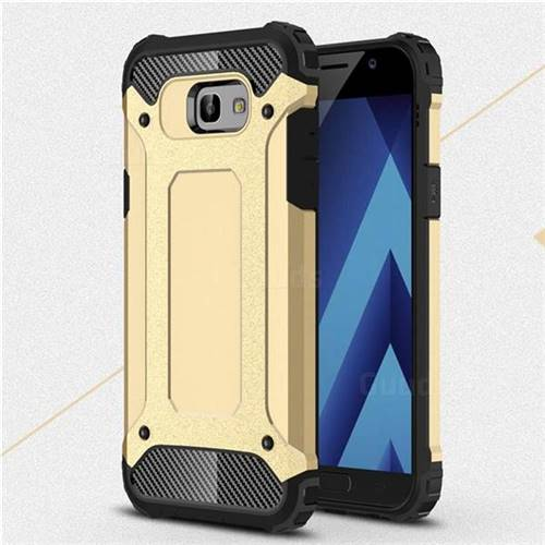King Kong Armor Premium Shockproof Dual Layer Rugged Hard Cover for Samsung Galaxy A7 2017 A720 - Champagne Gold