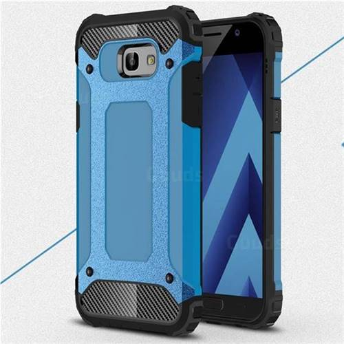 King Kong Armor Premium Shockproof Dual Layer Rugged Hard Cover for Samsung Galaxy A7 2017 A720 - Sky Blue
