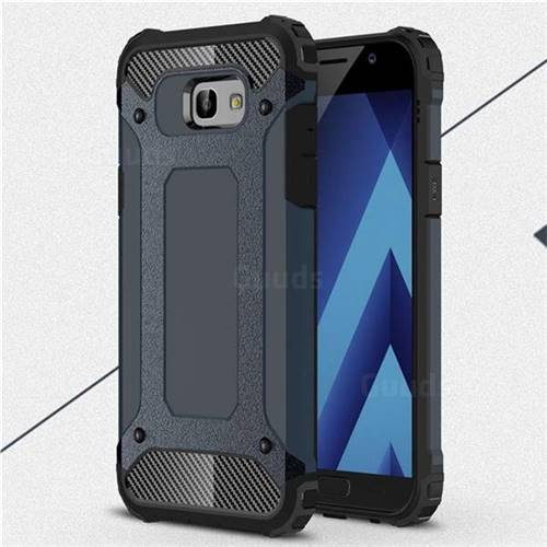 King Kong Armor Premium Shockproof Dual Layer Rugged Hard Cover for Samsung Galaxy A7 2017 A720 - Navy