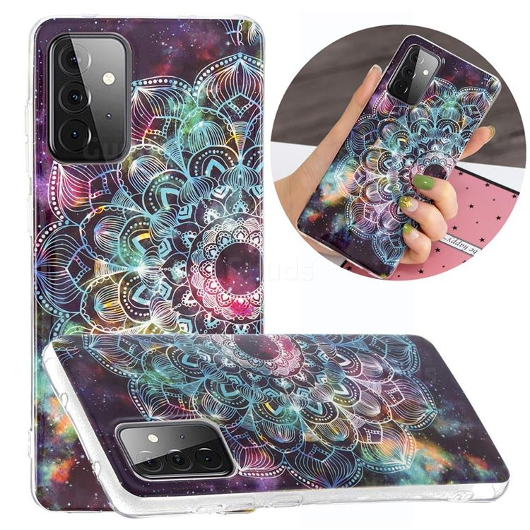 Datura Flowers Noctilucent Soft TPU Back Cover for Samsung Galaxy A72 5G