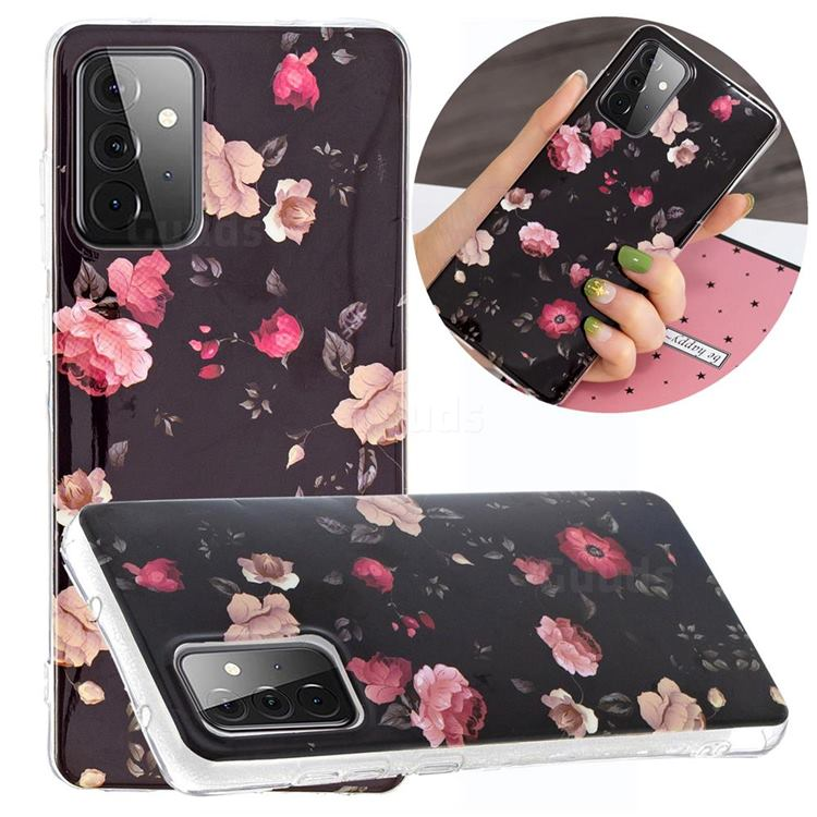Rose Flower Noctilucent Soft TPU Back Cover for Samsung Galaxy A72 5G