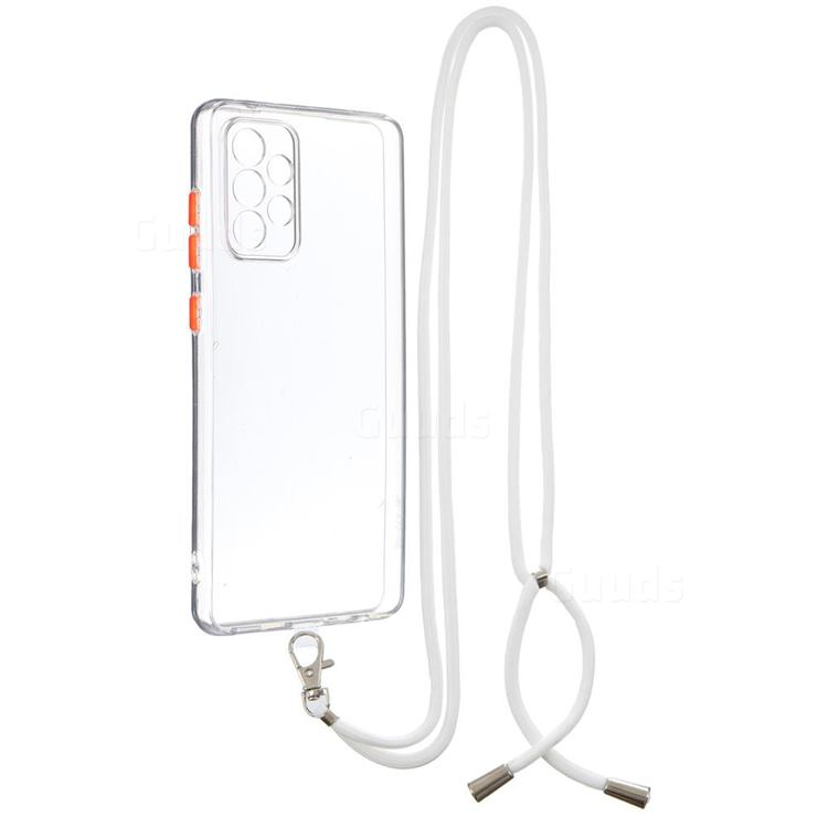 Necklace Cross-body Lanyard Strap Cord Phone Case Cover for Samsung Galaxy A72 (4G, 5G) - Transparent