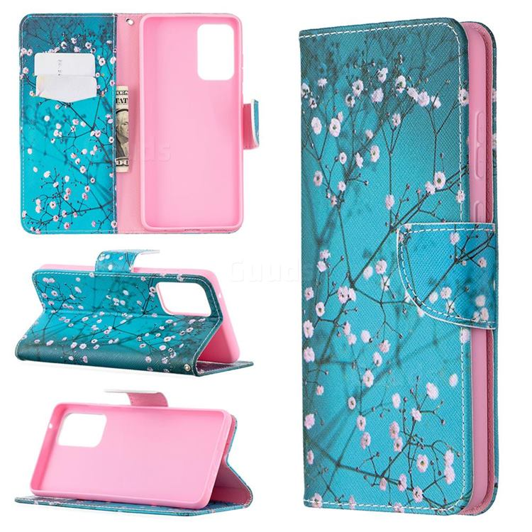 Blue Plum Leather Wallet Case for Samsung Galaxy A72 (4G, 5G)
