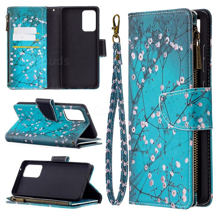 Blue Plum Binfen Color BF03 Retro Zipper Leather Wallet Phone Case for Samsung Galaxy A72 (4G, 5G)