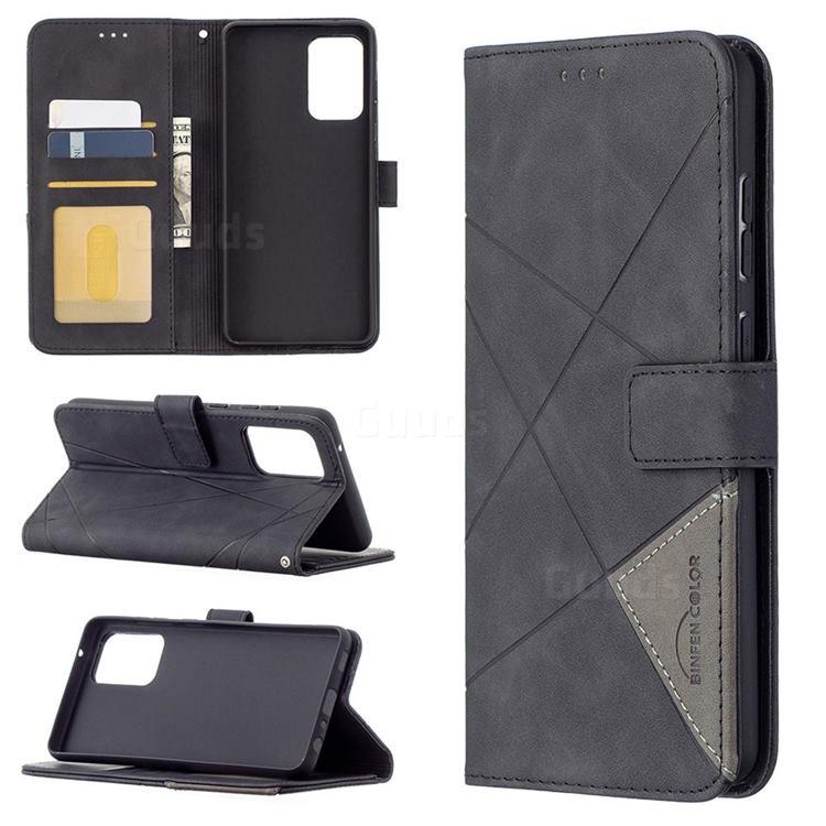 Binfen Color BF05 Prismatic Slim Wallet Flip Cover for Samsung Galaxy A72 (4G, 5G) - Black